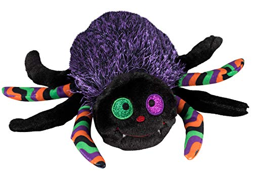 Blue Panda Halloween Spider Plush Toy - Cute Stuffed Animal Toy for Kids, Fluffy Halloween Party Decoration, Purple, 8 x 11.5 x 3 Inches ()