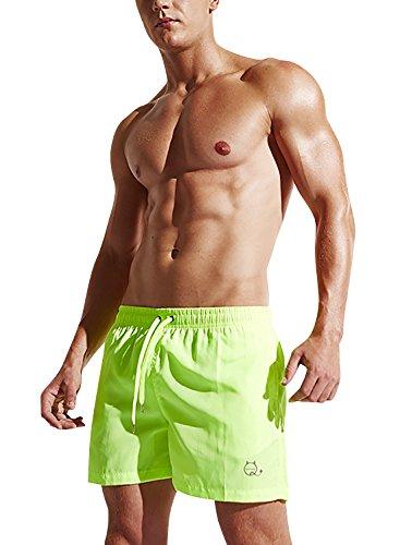 Cortos Dolamen Bañador Para Con Hombre Traje De Hombre Verde amp; Dentro Piscina Playa Bolsillos Ajustable Baño Pantalones Cordón Natación Boxer SvrwdSx4q