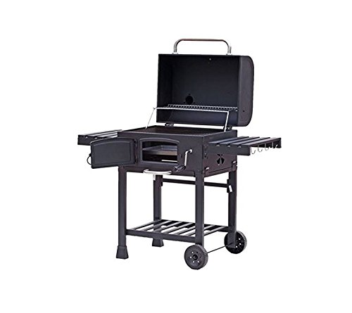 tepro xxl toronto trolley grill barbecue black garden outdoors. Black Bedroom Furniture Sets. Home Design Ideas