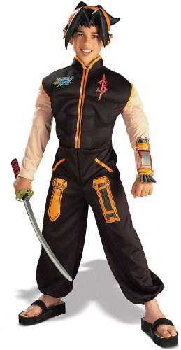 Shaman Halloween Costume (Deluxe Shaman King Ninja Costume - Child Large)
