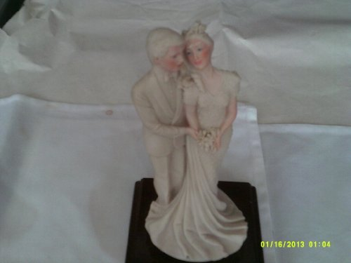 Capodimonte Porcelain Statue Figurines of courting couple / Capo-di-Monte Made in Italy early 1800's / Antique 44cm tall almost perfect RARE work