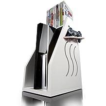 GameOn Video Gaming Console Storage - White