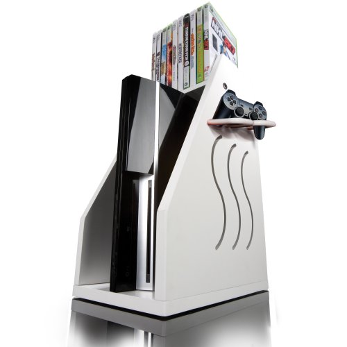 Merveilleux GameOn Video Gaming Console Storage U2013 White