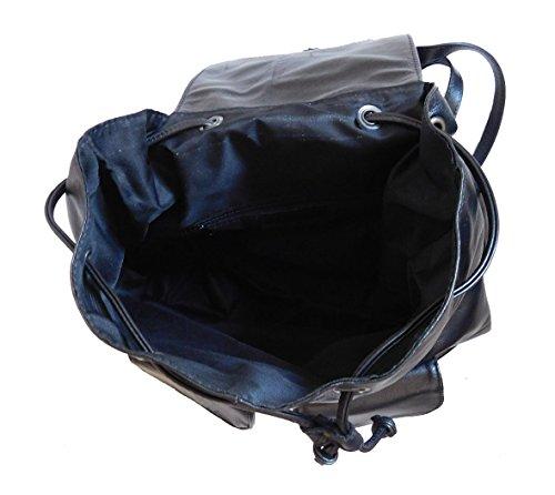 Zaino in vera pelle Sauvage colore nero made in Italy