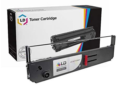 LD Compatible Printer Ribbon Cartridge Replacement for Okidata 52103601 (Black)