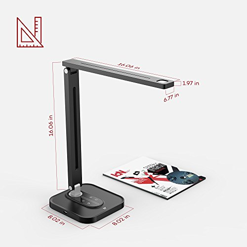 TaoTronics TT-DL029 LED Desk Lamp with USB Charging Port, 5 Color Temperatures and 5 Brightness Levels, Night Light Mode, 1H Timer, 12W, Black, Official Member of Philips Enabled Licensing Program by TaoTronics (Image #6)