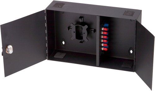 Allen Tel Products GB212 2 Adapter Panel Capacity, 24 Fiber Capacity, 13-Inch Width By 3.5-Inch Depth By 8-Inch Height Wall Mount Fiber Optic Cabinet