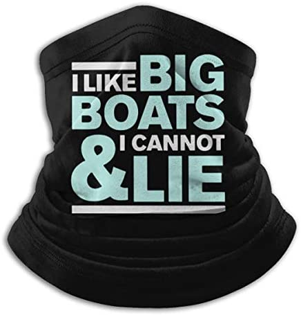 I Like Big Boats And I Cannot Lie ネックカバー 男女兼用 バンダナ 自転車用 フェイスガード 多機能 マジックスカーフ