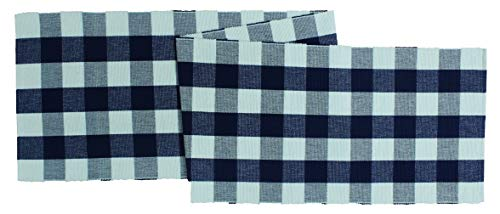"Cotton Craft -Buffalo Check Cotton Table Runner - 14"" x 72""-"