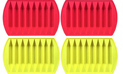 CrayOn 4 Double Tipped, Triangular Silicone Crayon Molds (Makes 32 Recycled Crayons Total)