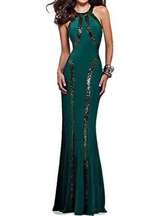 Amazon.com: Women's Gorgeous Jersey Sequin Trim Evening