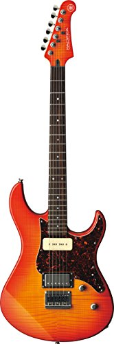 Yamaha Pacifica PAC611HFM LAB Solid-Body Electric Guitar, Light Amber Burst