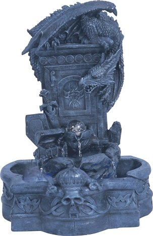 54''H Blue Dragon Fountain Lamp-Pedestal Set by Home Fashion Product