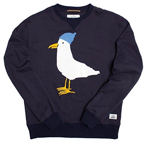 Sea Gull Sweatshirt (Seagull Loop Terry Crew Neck Sweatshirt Indigo,X-Large,Indigo)