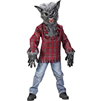 Disfraz de hombre lobo del mundo divertido, grande 12-14, multicolor