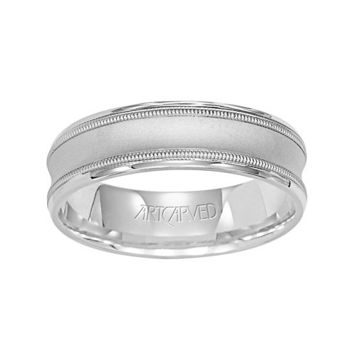 11-WV7269PD_G Cortini Carved Palladium Mens Wedding Band from ArtCarved