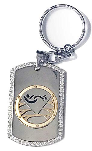 Partners ID Swinger Keychain with Crystals and Lifestyle Pendant