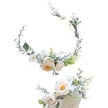 FIDDY898 Floral Crown Green Head Piece Bridal Accessories Wedding Crown