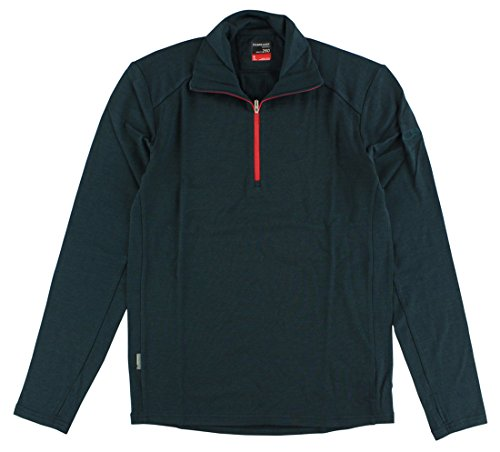 Icebreaker Men's Tech Long Sleeve Half Zip Top, Nori Heather/Clay, Small by Icebreaker Merino