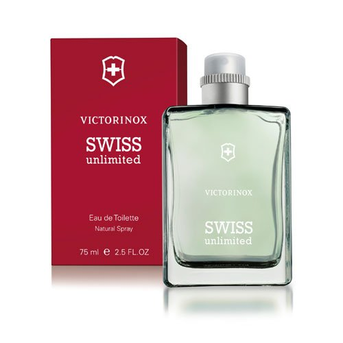 Swiss Army Unlimited fur Herren Giftset - 75 ml Eau de Toilette Spray + 75 ml Deodorant Stick + Travel Pouch