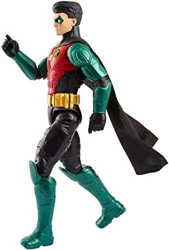 Mattel Batman Robin Personaggio Articolato, con 11 Punti di Articolazione, Giocattolo per Bambini 3 + Anni, 30 cm FVM71