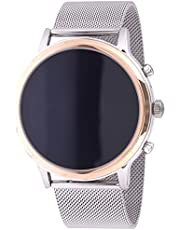 Fossil Gen 5 Julianna Stainless Steel Touchscreen Smartwatch with Speaker, Heart Rate, GPS, NFC, and Smartphone Notifications