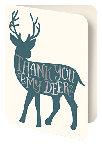 Studio Oh! Foil Stamped Artisan Notecards, Thank You My Deer