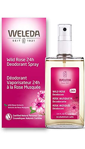 Weleda Wild Rose 24h Deodorant Spray, 3.4-Ounce - Intense Deodorant Spray