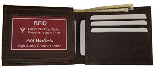 Exploración Carpeta De De Tarjeta Crédito De Mens Seguridad Bloqueo De Marrón Rfid Prueba La Plegadizas De Cuero De A Identificación XwxzPvTwqA