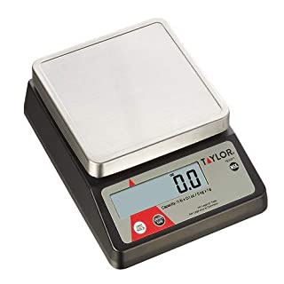 Taylor Precision TE10FT 11-Pound Compact Digital Portion Control Scale, Stainless Steel, NSF