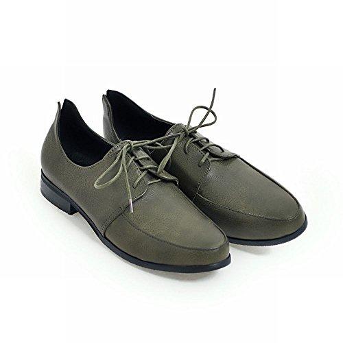 Low Charm Shoes Green Dark up Oxford Heel Women's Foot Lace qqwRTAa