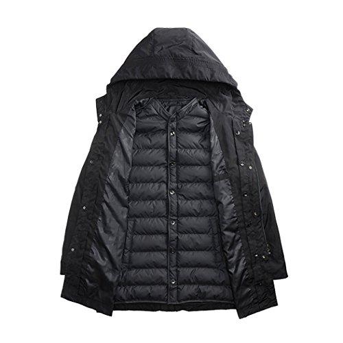 Hhy inverno Mens Moda Tasca Cappello Di Uomo Cappotto Xxxl Cotone Nero 6qnHTE6A1x