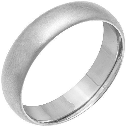 (Platinum Traditional Classic Men's Comfort Fit Wedding Band (6mm) Size-10.5c1)