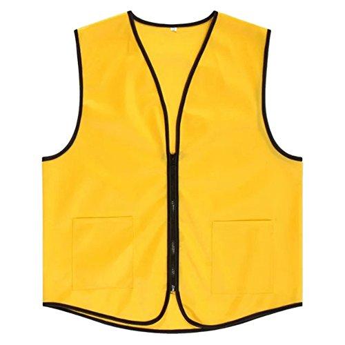 TOPTIE Supermarket Vest/Apron Zipper Vest for Clerk Uniform Vest, Yellow, L