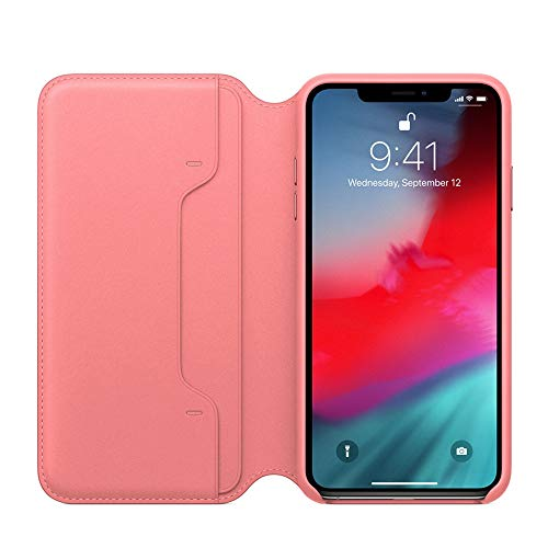 iPhone Xs Max XS XR Case, Pumsun Practical Fresh Cute Flip Wallet Leather Case Cover Protector for iPhone Xs Max 6.5inch (iPhone Xs Max, Pink)