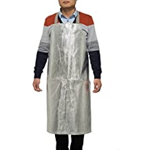 "Welding Apron Bib Style 38"" X 30"" Aluminized Heat Resistant Apron Flame Resistant Apparel Safety Coat Splash Proof Aluminized"