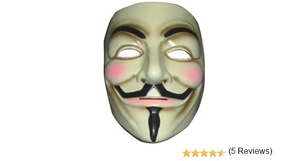 Desconocido V for Vendetta Mask (máscara/careta): Einheitsgröße für Erwachsene. Tstoff: Amazon.es: Juguetes y juegos