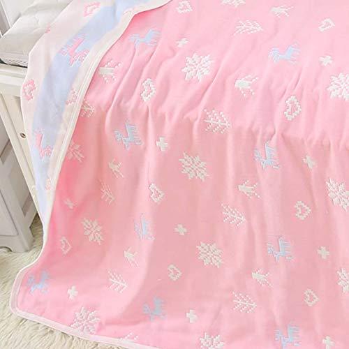 Brandream Muslin Soft Cotton Baby Girl Blanket Baby Swaddle Blanket Pink, Arrow Blanket Deer and Snowflake ()