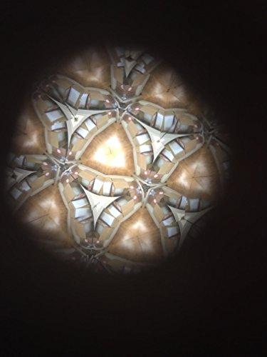 N & J Kaleidoscope Teleidoscope in Solid Padauk Wood, MINI Tadpole 3 Inch, Sits Flat, Laminated Top by N & J (Image #8)