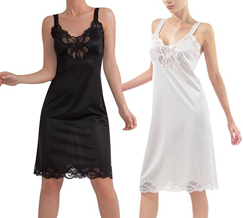 Women's Full Slip Chemise Lace Cami Sexy Lingerie Lounge ...