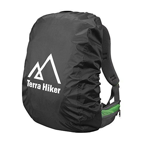 Terra Hiker Rainproof Backpack Rain Cover for Outdoor Activities (Black, L)