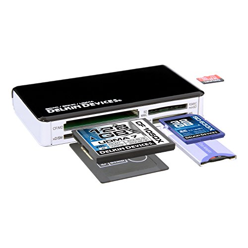 - Delkin All-in-One Universal Card Reader Compatible with SDXC, UDMA and SDHC DDREADER-41
