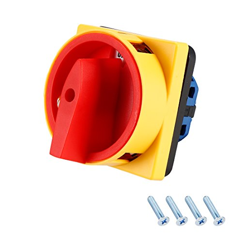 Disconnect Rotary Switch - uxcell Changeover Switch 2 Position Rotary Selector Cam Switch Panel Mount 4 Terminals Latching Ui 550V Ith 16A