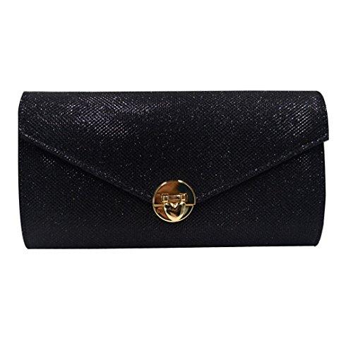 Bag Purse Glitter black Evening Envelope Handbag Prom Millya Chain Sparkling Bridal Ladies Shoulder Clutch zBz17