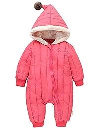 Mengxiaoya Baby Jumpsuit Hoodie Winter Romper Snuggly Bunting Bag One Piece Snowsuit
