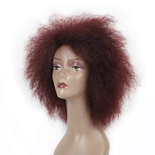 6.5 Inch Hair Synthetic Short Kinky Curly Afro Wig Super Fluffy Wigs for Women 100g/Piece Color 99J