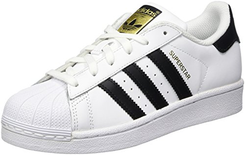 adidas Originals Superstar J Shoe (Big Kid), White/Black/White, 4 M US Big Kid by adidas