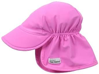 Flap Happy Baby Girls' Upf 50+ Swim Flap Hat, Azalea, Small