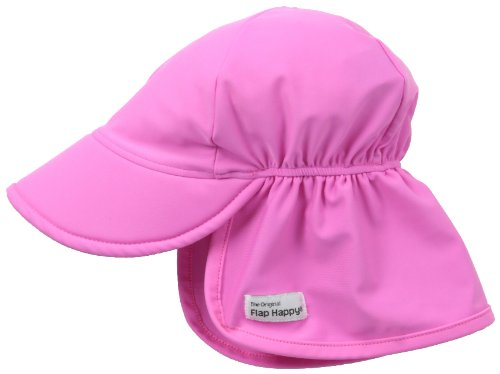 Flap Happy Baby Girls' UPF 50+ Swim Flap Hat, Azalea, Small