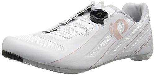 Pearl iZUMi Women's W Race Road v5 Cycling Shoe, White/Grey, 39.5 M EU (8 US)